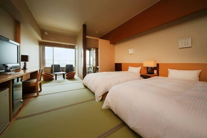 房総鴨川温泉 是空  和室  是空棟             (半露天風呂付Aタイプ客室)