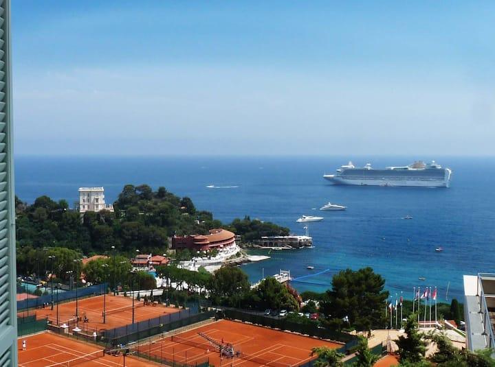 100 m Monaco Vue mer époustouflante