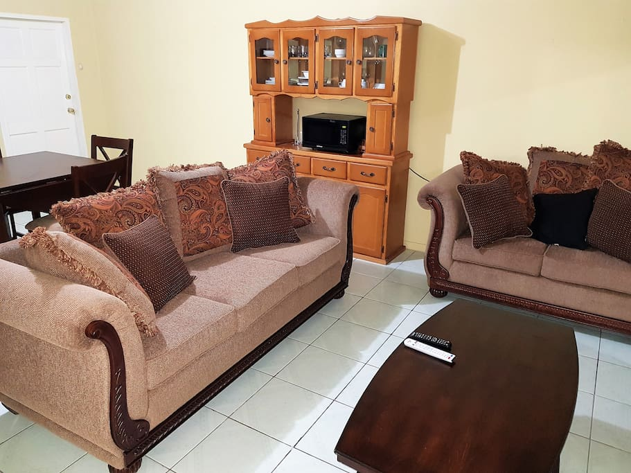 Living room with very comfortable sofas