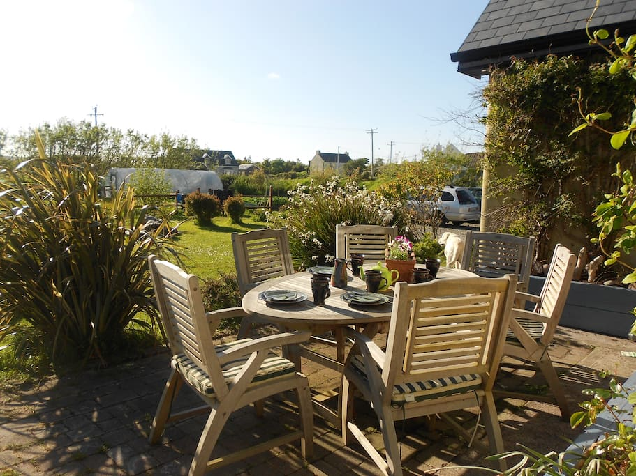 A lovely suntrap with views of the garden