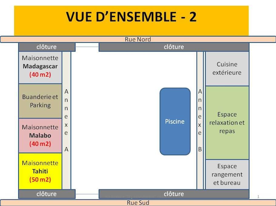 Plan de masse de la résidence