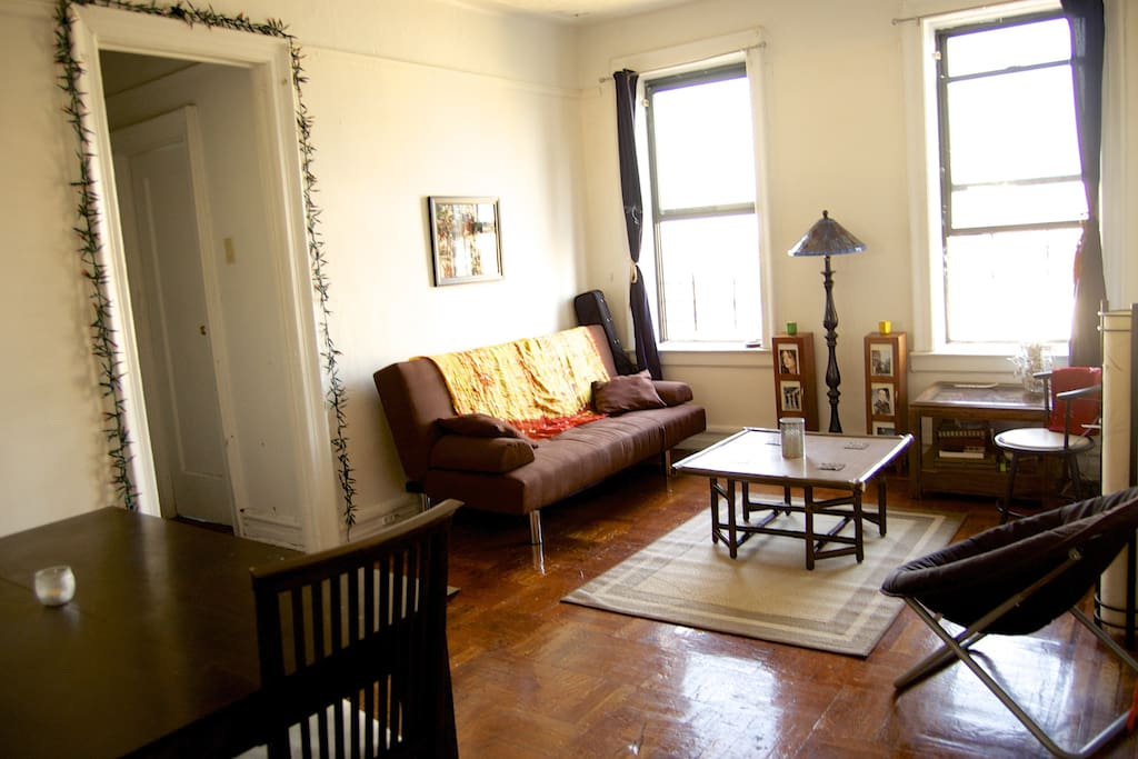 This is the Living room that you'll share with my roommate