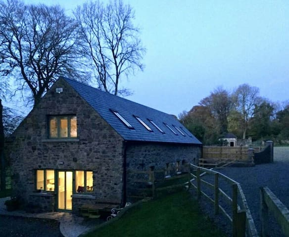 Classically renovated 18th century barn