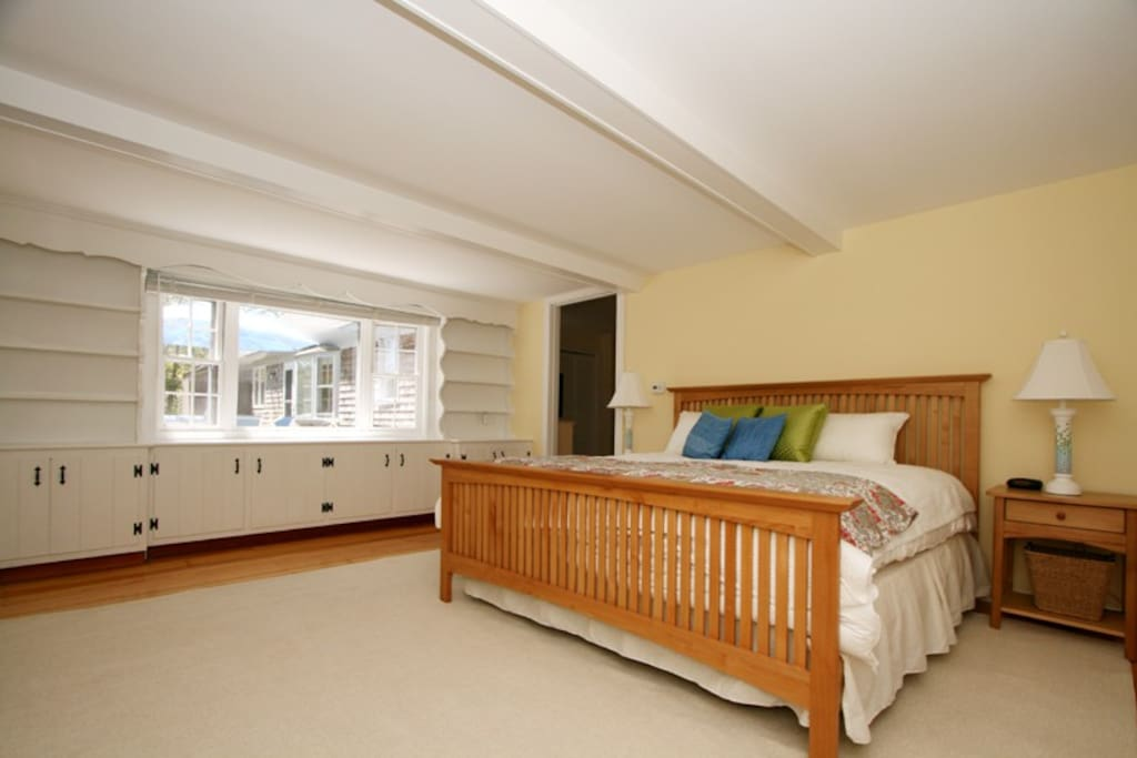 First floor master bedroom with King bed and views.