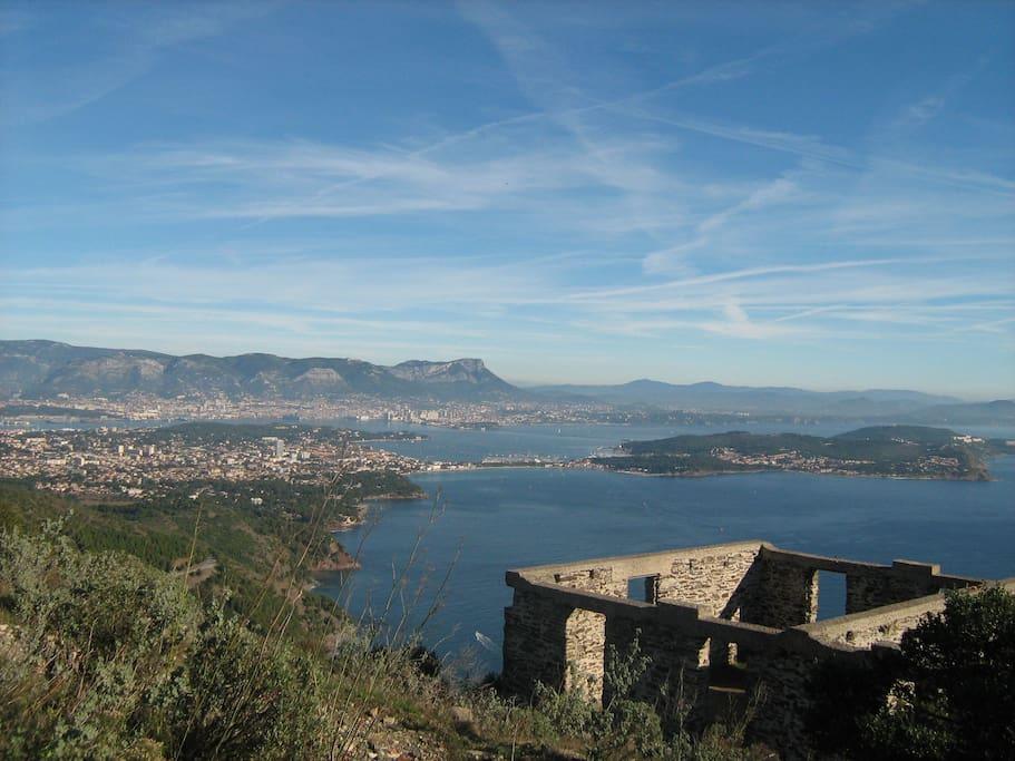 Les Sablettes, St Mandrier et Toulon