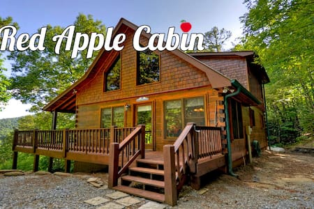 Red Apple Cabin on top of the Mountains - Blue Ridge - Ξυλόσπιτο