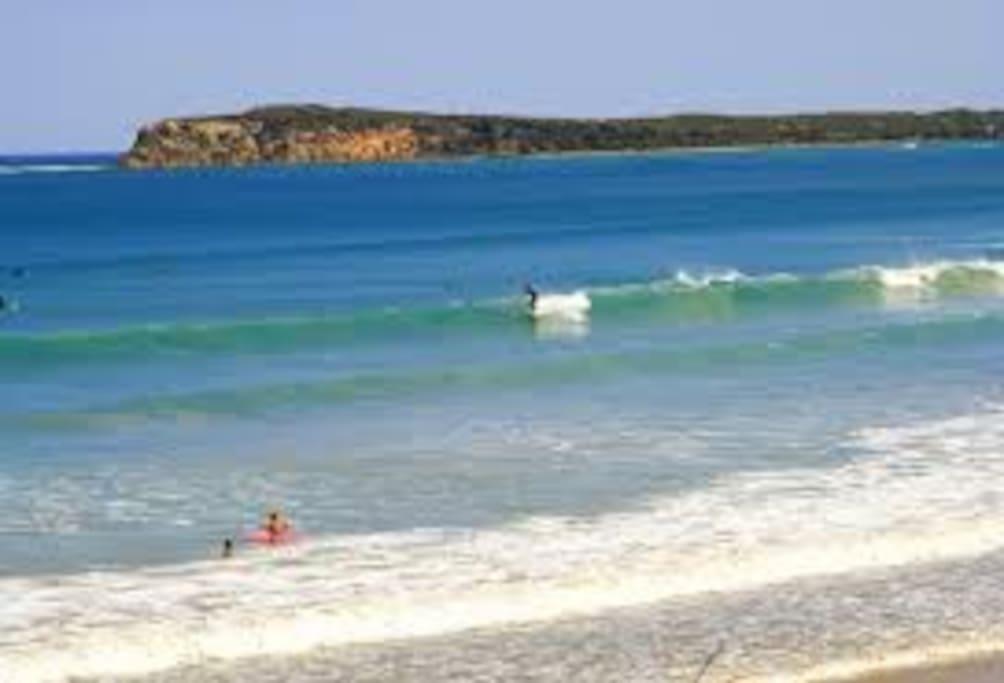 The Bluff & 13th surf Beach  5 min walk