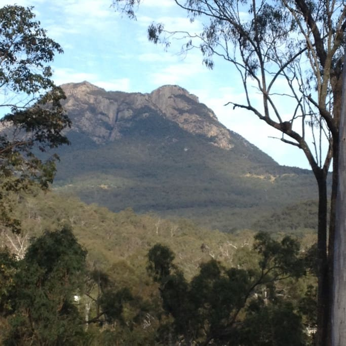 Mt Maroon from your room on the front veranda.