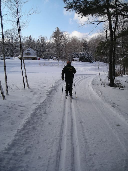 Cross country ski or snow shoe or ice skate right outside your door. Rentals and lessons available.