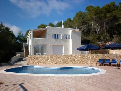 beautiful views with pool in ibiza