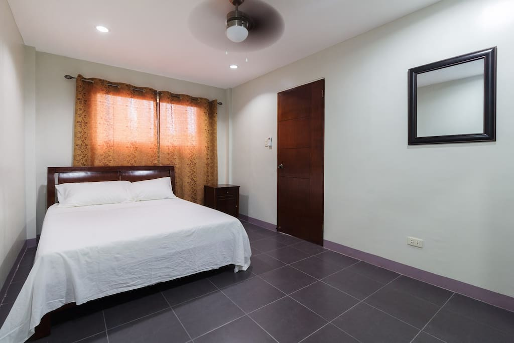 Have your best dreams on the comfy queen size bed in the air conditioned bedroom