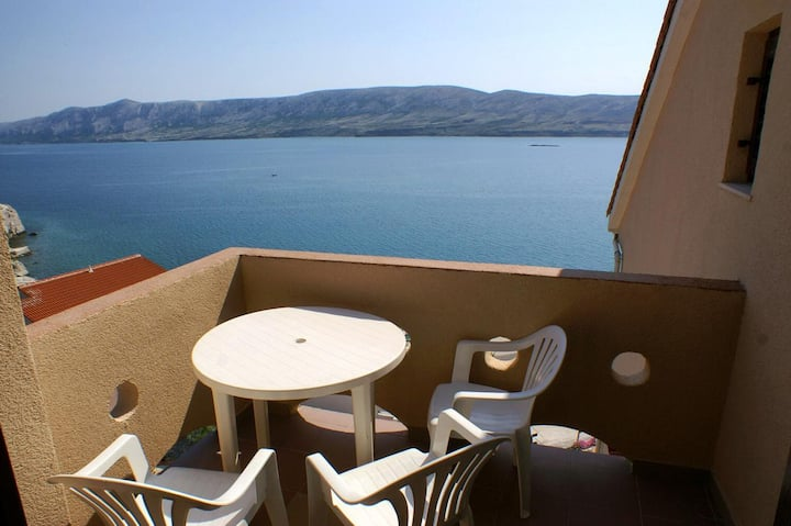 One bedroom apartment with terrace and sea view Zubovići, Pag (A-9678-c)