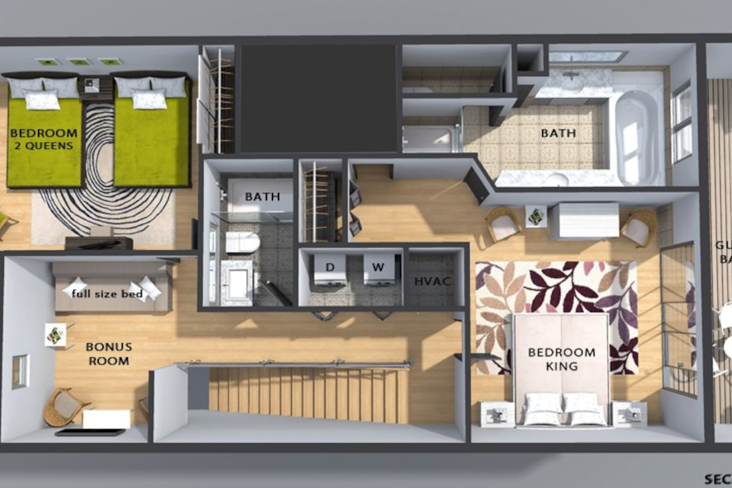 SeaBreeze A Navarre Beach Secret Townhouses for Rent in Navarre – King Of Queens House Floor Plan