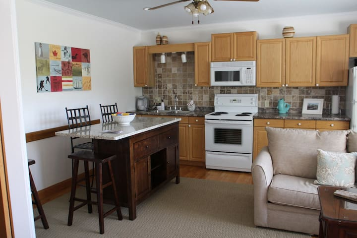 Suite A kitchen and Living room