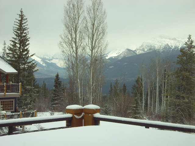 Hot-tub view & last bit of skiing ! - Golden - Appartement