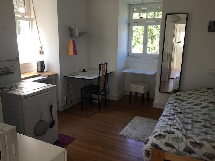Helles Zimmer mit Kochmöglichkeit-Jugendstilvilla