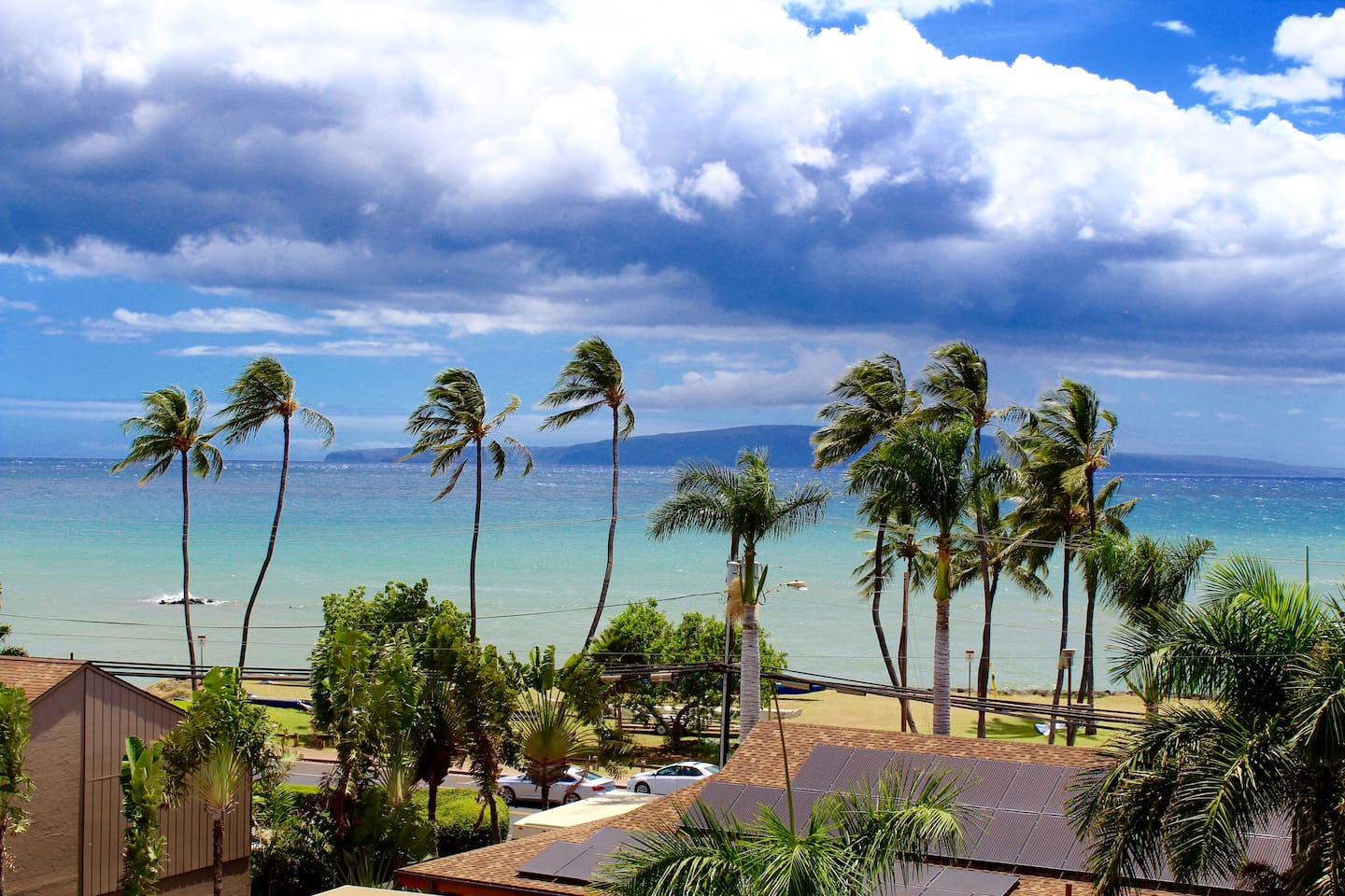 Panoramic ocean and Haleakala Mountain views from the entire home.  Open floor plan fills the home with natural light, full windows and sliding glass doors.