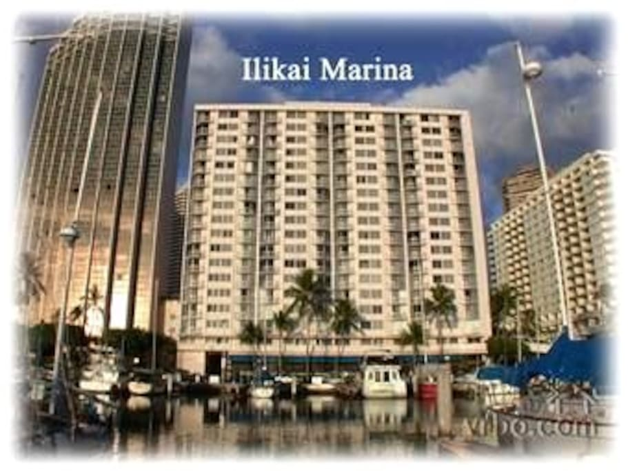 Ilikai Marina sits on the Yacht Harbor Ocean Front