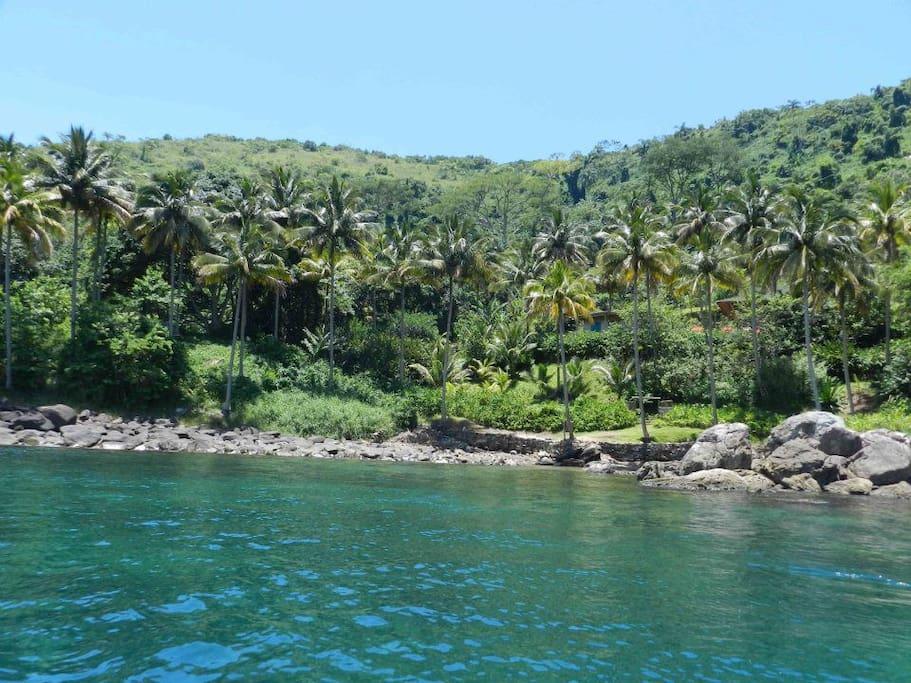 Entrada da Ilha das Couves pelo lado norte.