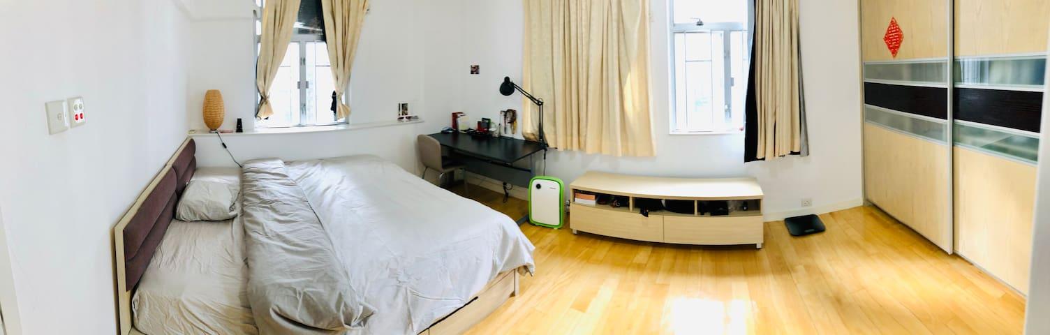 Spacious Mater bedroom on HK Island