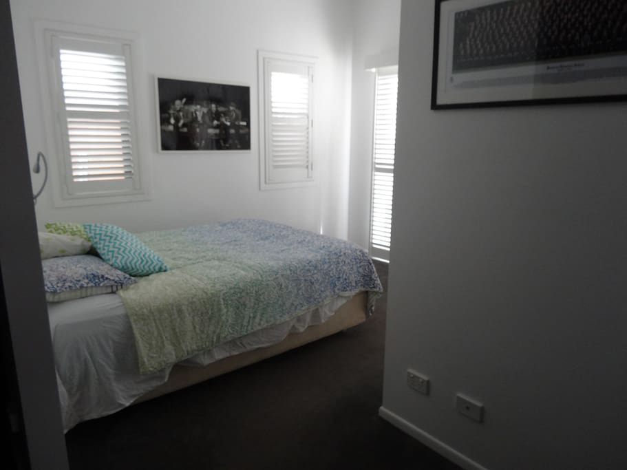 Queen bedroom privacy shutters