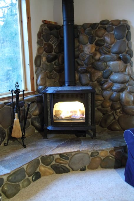 Gas Stove in living room