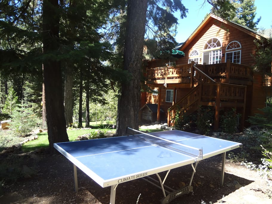 Summer....lovely backyard, perfect for relaxing and a great game of ping pong.
