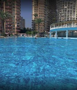 flamingo 3 te deniz manzaralı havuzlu aqua park lı