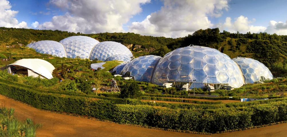 The famous Eden Project is nearby