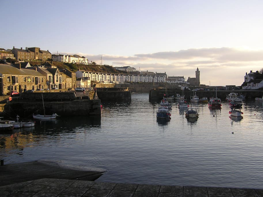 The stunning harbour of Porthleven.