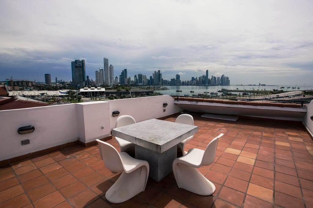 private rooftop with 360 degrees view
