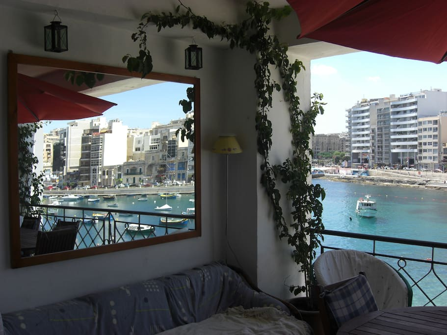 The Sea View Of Spinola Bay From The Living Room Balcony/Terrace