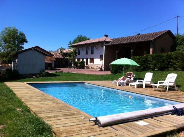 chambre d'hotes a la campagne - Saint-Étienne-sur-Chalaronne - Oda + Kahvaltı