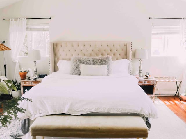 A very comfortable king size bed. Our guests often rave about it.