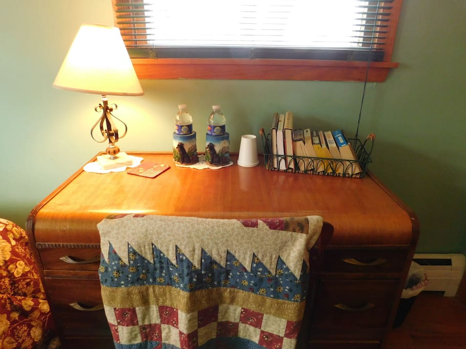 Need a place to write a note or work on your laptop?