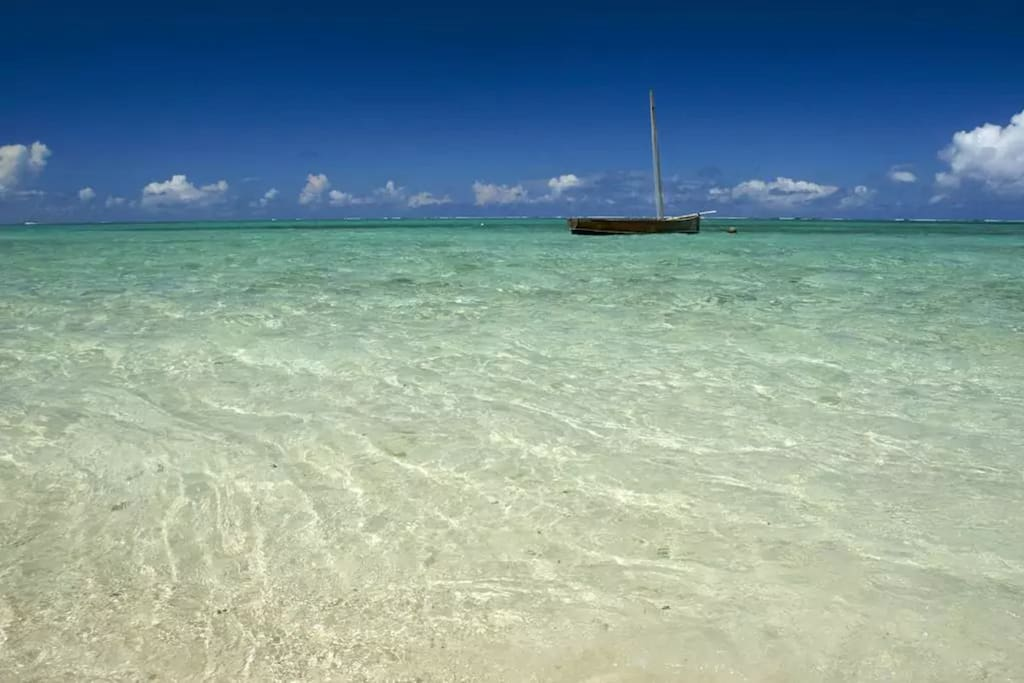 la mer juste devant la maison
