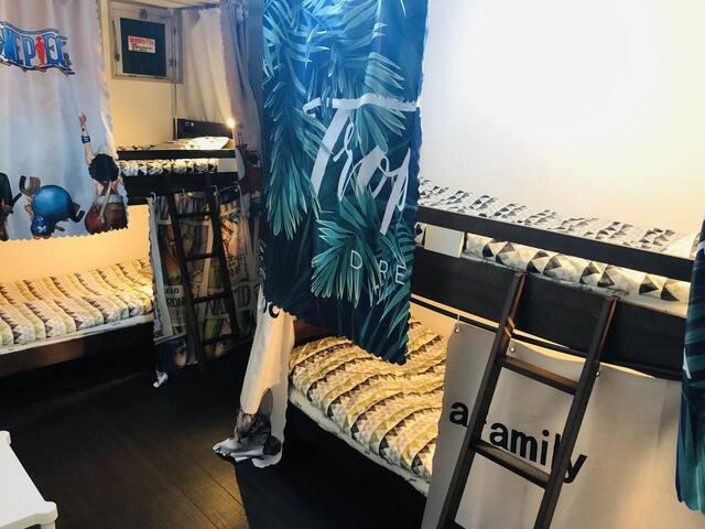 Jsnail Hostel Mix Dormitory Room 車站步行3分鐘緊鄰超市8分鐘至難波