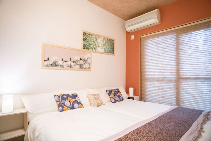 Great location in Nijo/8 mins walking Free wifi101 - Nakagyo Ward, Kyoto - Appartement