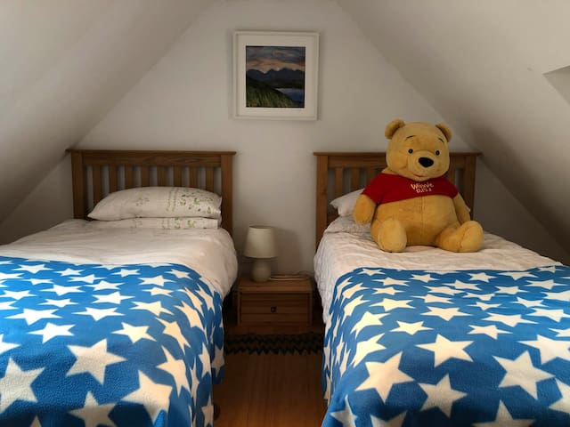 Mezzanine Bedroom - best for kids but still OK for adults despite restricted headroom in places