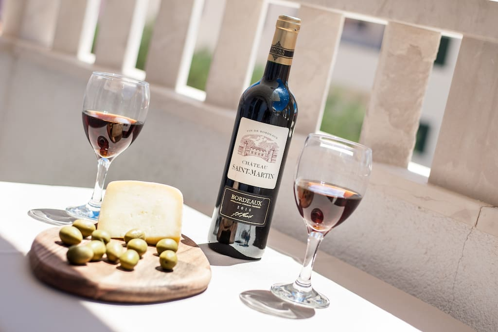 sheep cheese made in  Brač and wine for relaxed evenings