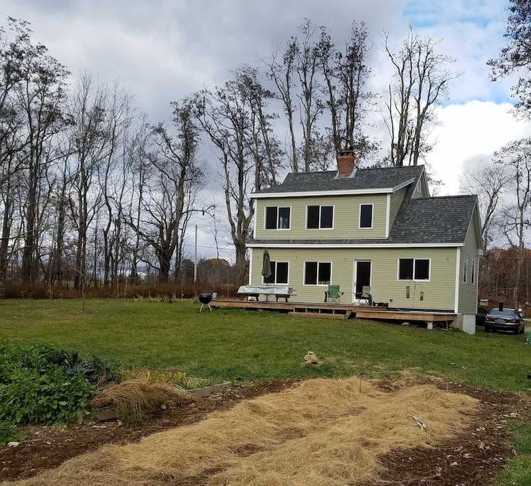 Farmhouse in fall