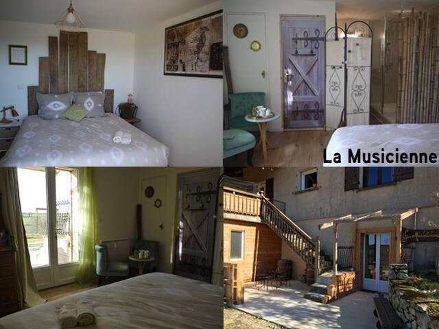 Chambre d'hôte chez un artiste_la musicienne
