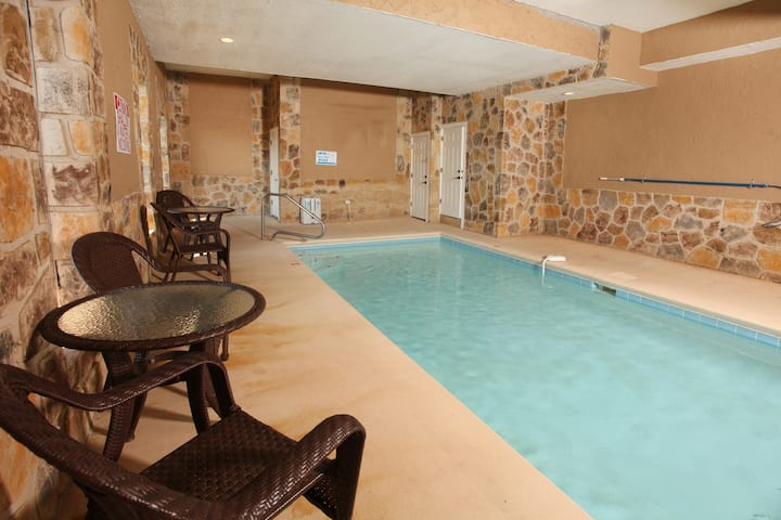 """""""Paradise Mountain Pool Lodge,"""" a beautiful log cabin nestled in the heart of the Great Smoky Mountains!"""