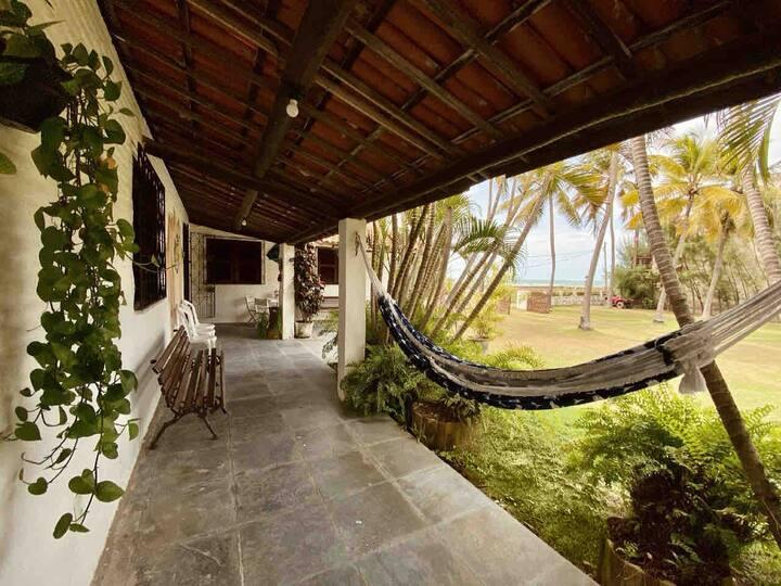 Casa paraíso Flecheiras- Praia a 50m com vista mar