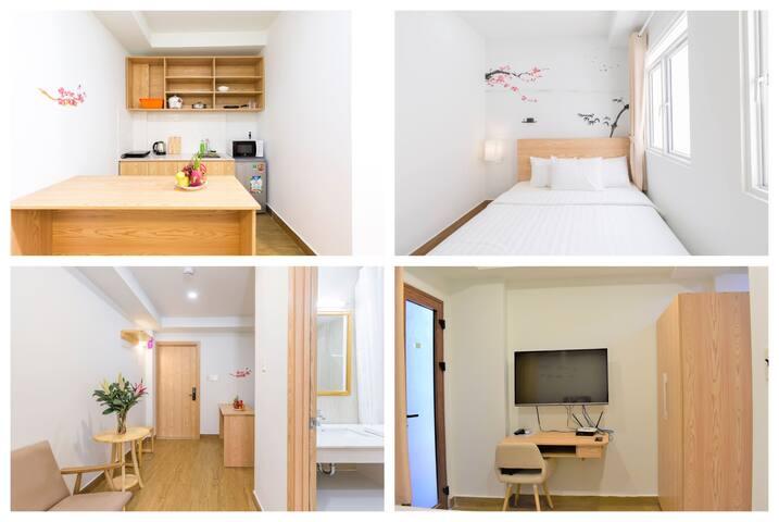 AUHOME - Fuji Studio with Bathtub & Full Kitchen