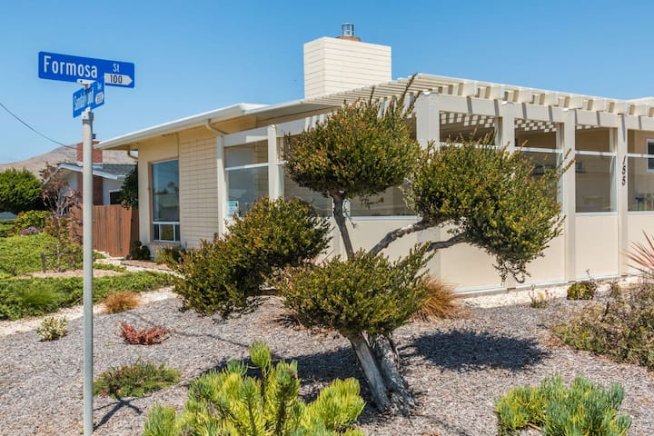 This home is located on the corner just two short blocks to the beach