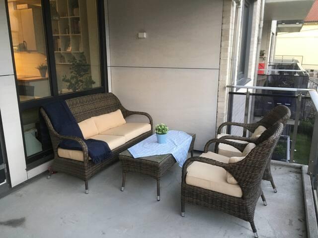 Praktisk leilighet i sørlandsbyen Grimstad