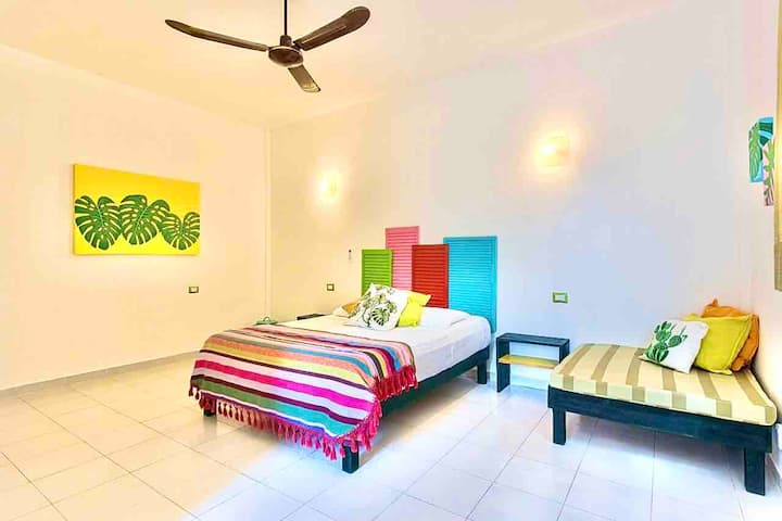 COLORFUL Mexican style suite w A/C & POOL