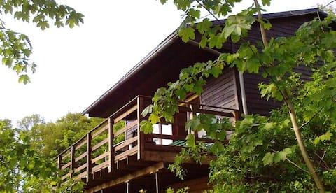 Log cabin am Walde