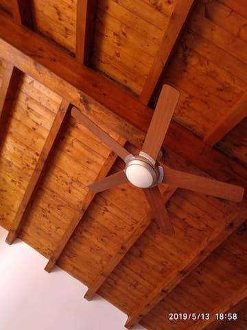 Ventilatore a soffitto in camera